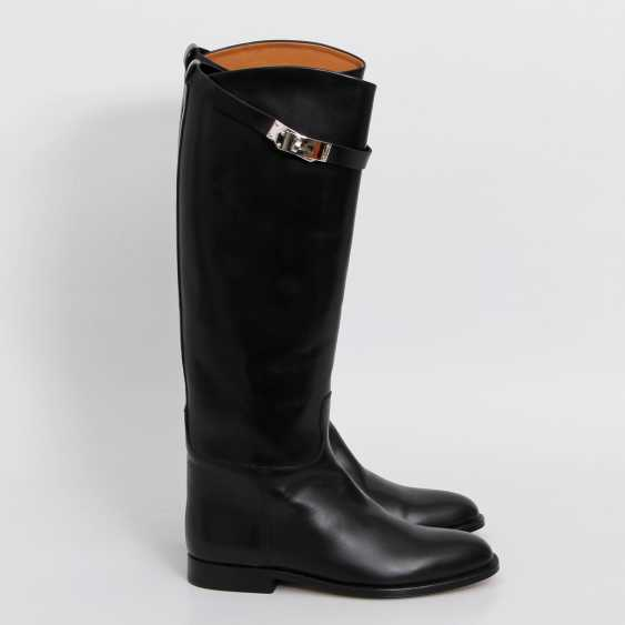 """HERMÈS timeless high boots are """"JUMPING"""", size 38. - photo 4"""