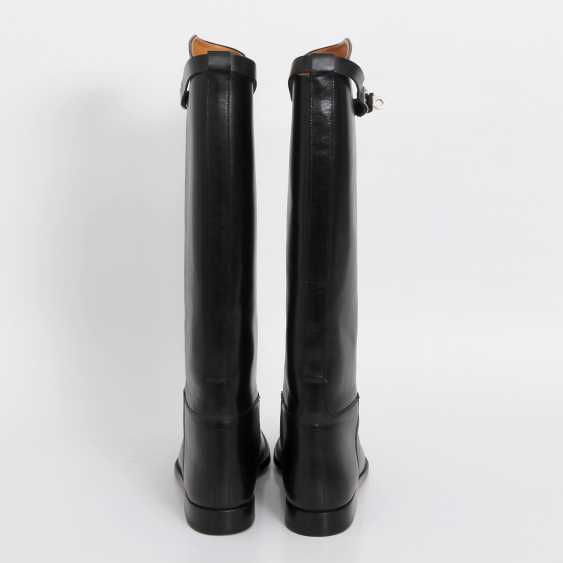"""HERMÈS timeless high boots are """"JUMPING"""", size 38. - photo 5"""