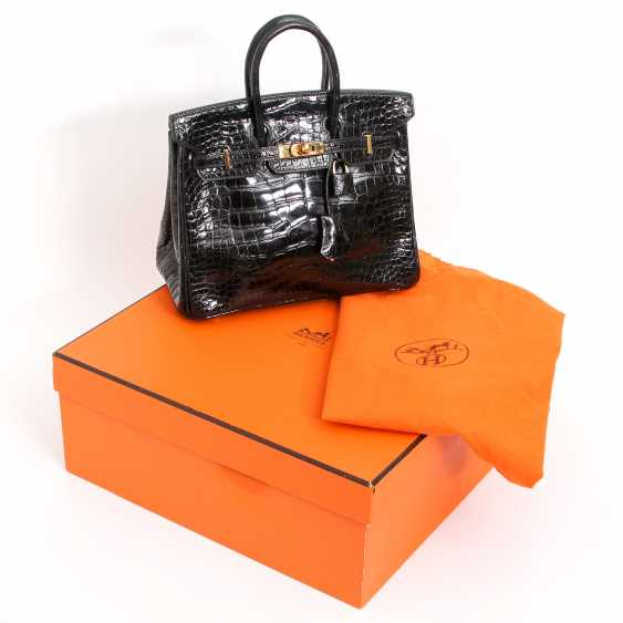"HERMÈS exquisite handbag ""BIRKIN BAG 25"", collection 2005. - photo 5"