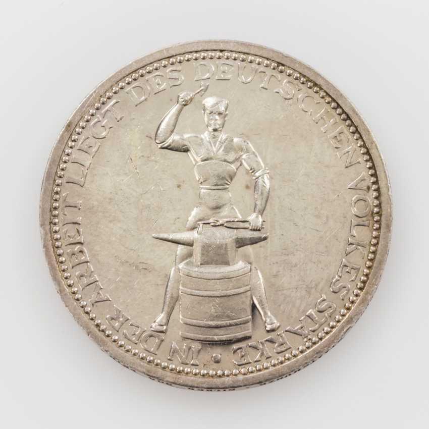 Weimar Republic, Friedrich Ebert medal to O. Glöckler/Berlin, - photo 2