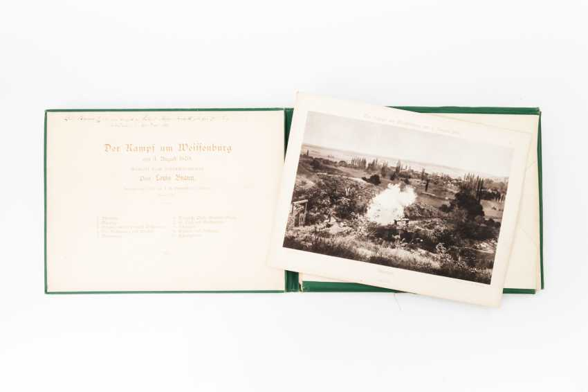 Folder with light pressure recordings for the dt.-franz. War, 19. Century - - photo 1