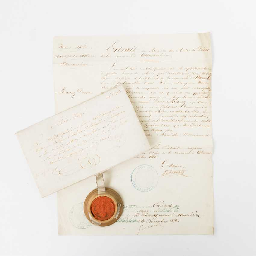 Hist. Purchase letter, 18. Of - the-century purchase, letter of 1737 from the municipality of Matrei in Osttirol - photo 1