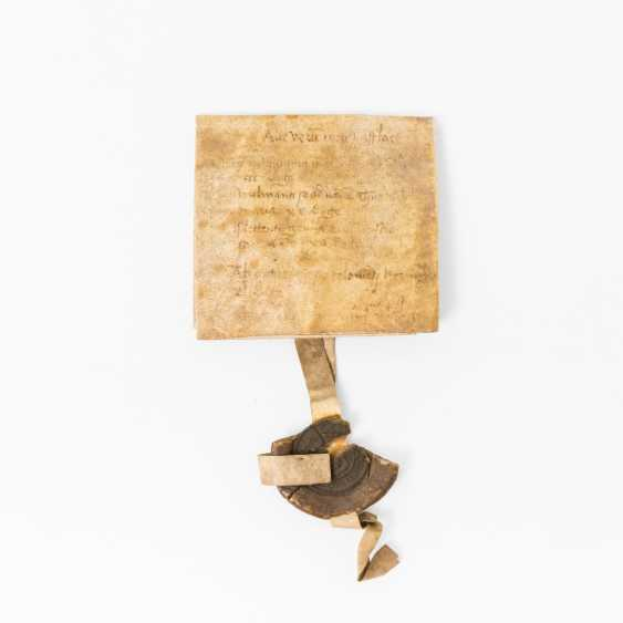Probably The Letter, Of Cologne 16 Drain. Century - parchment with a wax seal, - photo 1