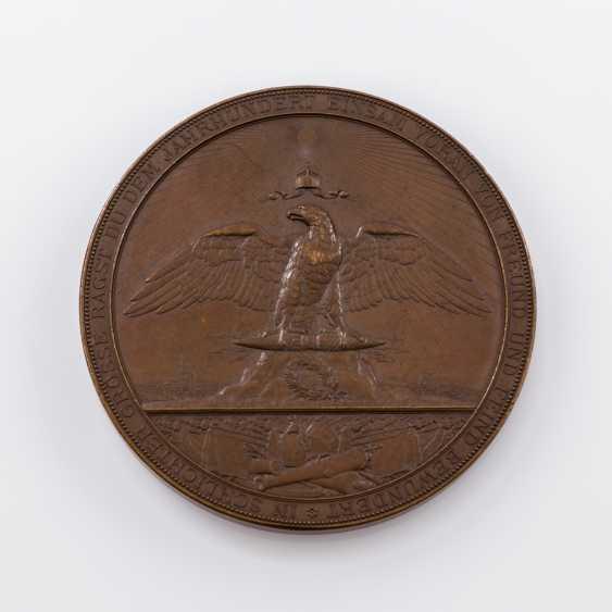Large bronze medal o. J. to General field Marshal Moltke, - photo 2