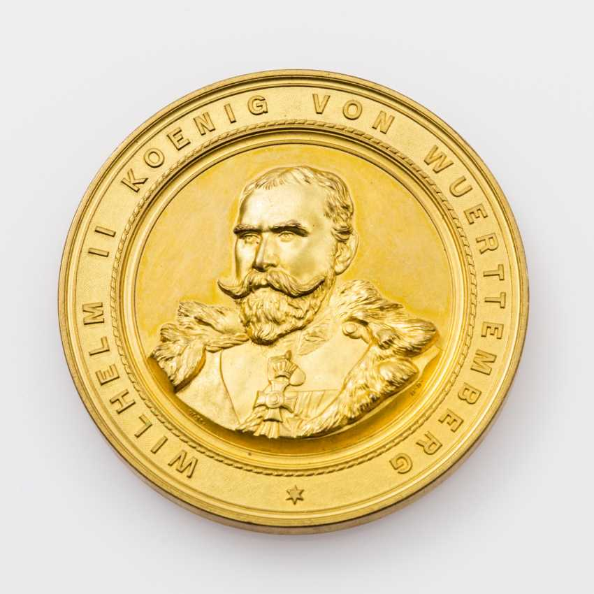 Medal 1893 by W. Mayer on the inauguration of the new Neckar bridge - photo 1
