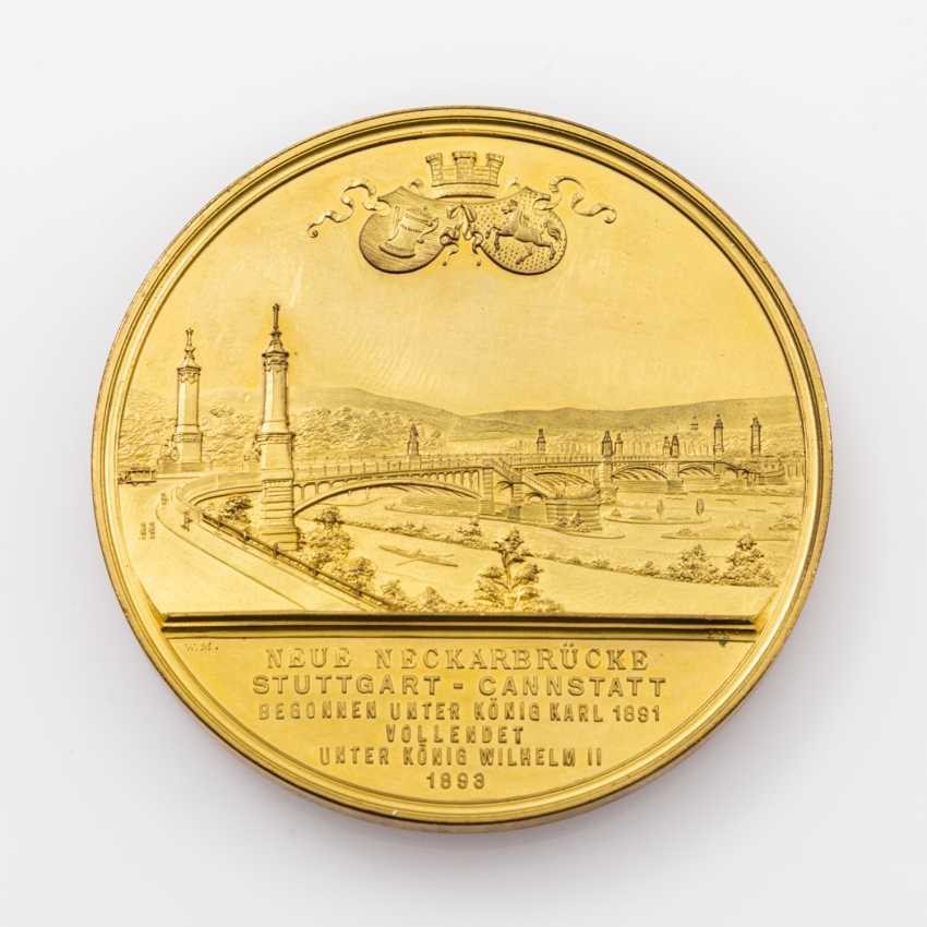 Medal 1893 by W. Mayer on the inauguration of the new Neckar bridge - photo 2