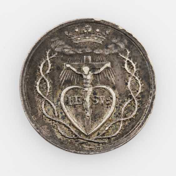 Religious Medal (Augsburg?) - Silver Restrike of double ducats, o. J. (18. Century), - photo 1