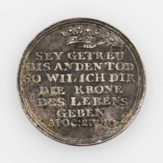 Religious Medal (Augsburg?) - Silver Restrike of double ducats, o. J. (18. Century), - photo 2