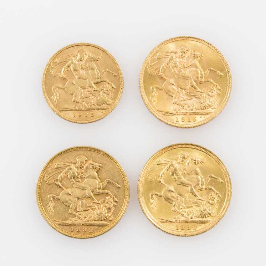 Australien/ GB/ GOLD - 3 x Goldpfund + 1/2 Pfund, - photo 2