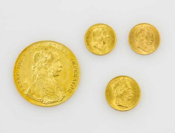 Austria/GOLD - Lot of 4 coins, total fine approx. weight 25.5 g, - photo 1