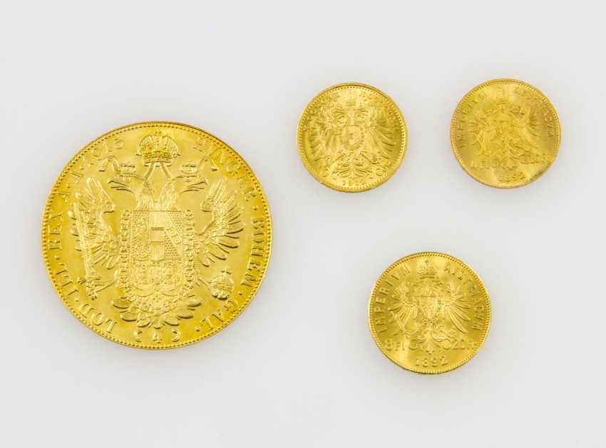 Austria/GOLD - Lot of 4 coins, total fine approx. weight 25.5 g, - photo 2