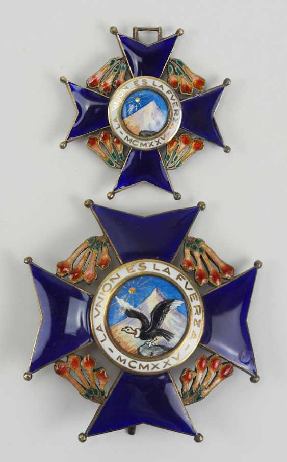 Bolivia national order of the Condor of the Andes, Grand cross set. - photo 1