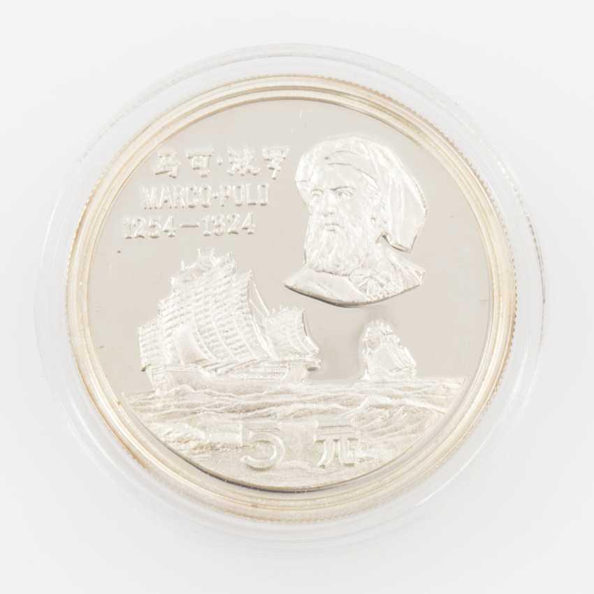 China - 5 Yuan Silber 1983. Marco Polo, - photo 1