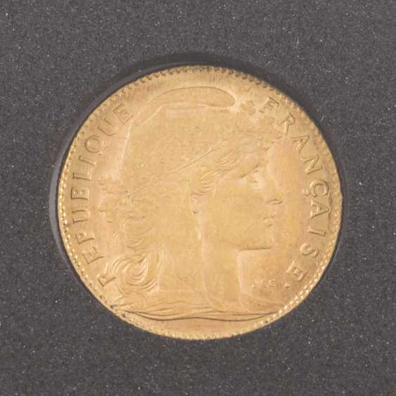 France Gold 10 Francs 1910, Marianne, ss., - photo 1
