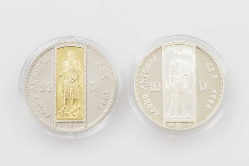 Andorra - 20 Diners mit Gold-Inlay, - photo 1