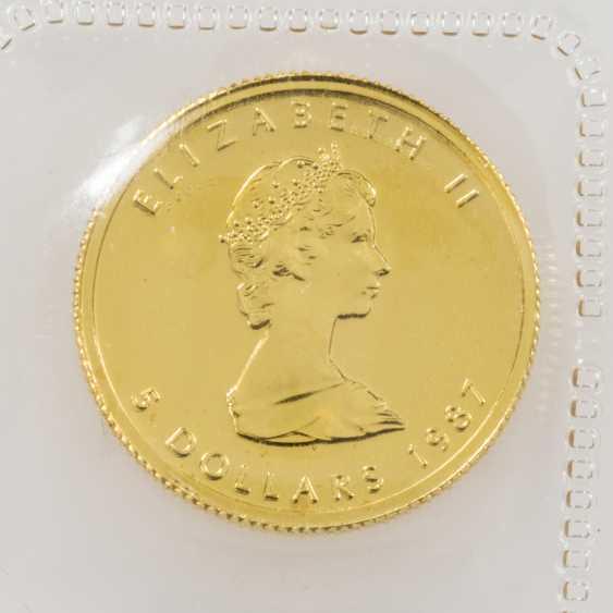 Canada/GOLD - 5 dollars 1987, - photo 1