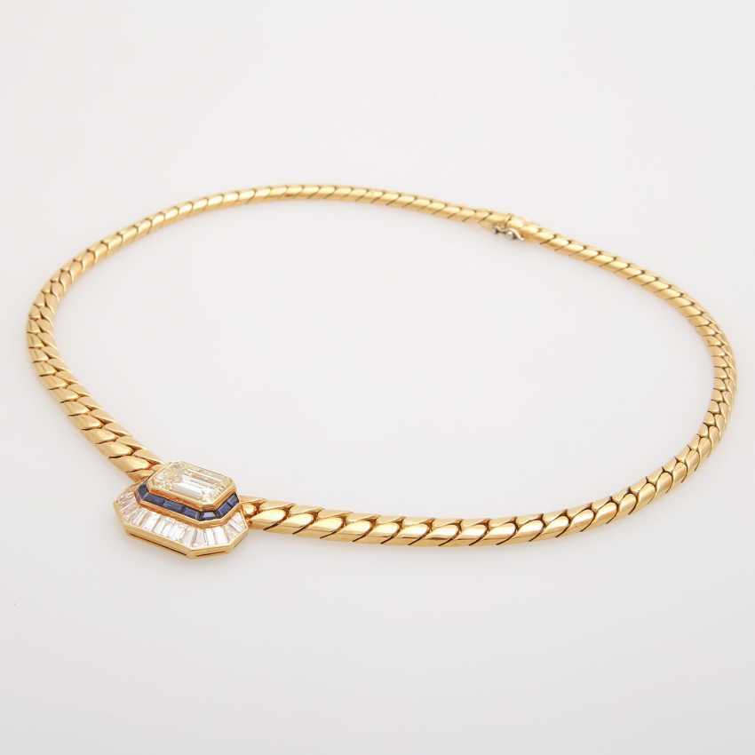 Collier in the Central part set with a diamond - photo 1