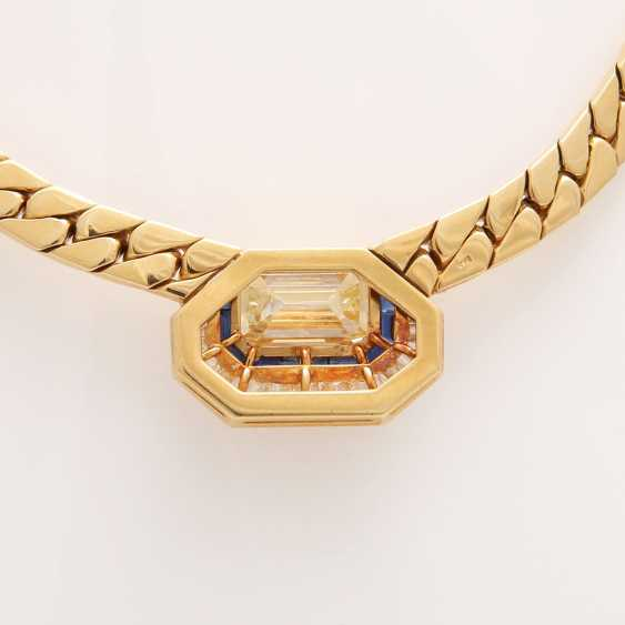 Collier in the Central part set with a diamond - photo 6