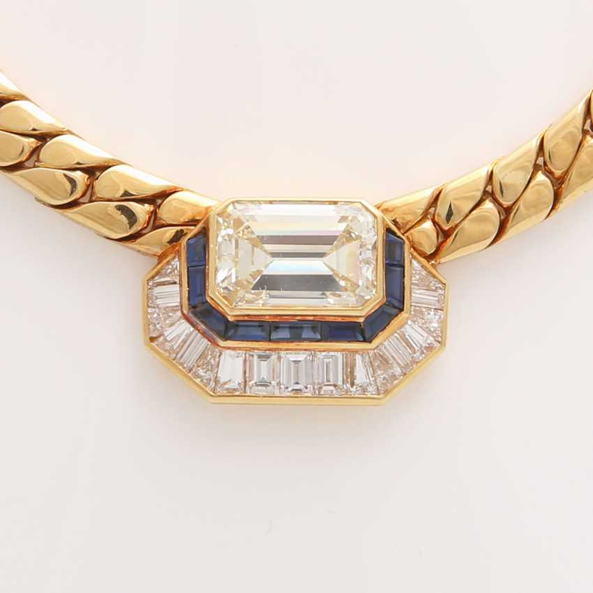 Collier in the Central part set with a diamond - photo 5