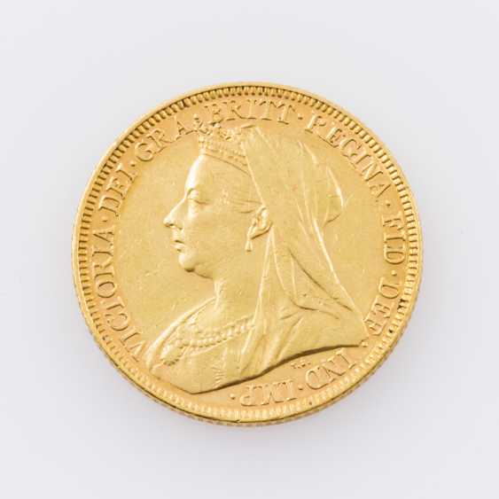Australia Gold 1 Sovereign 1897/M, Victoria, ss., minimal notches avers, - photo 1