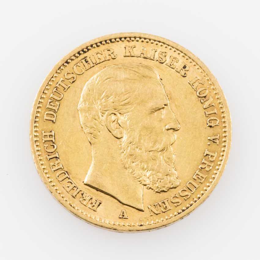 Preussen/GOLD, 20 Mark 1888 A, Friedrich Wilhelm III., - photo 1