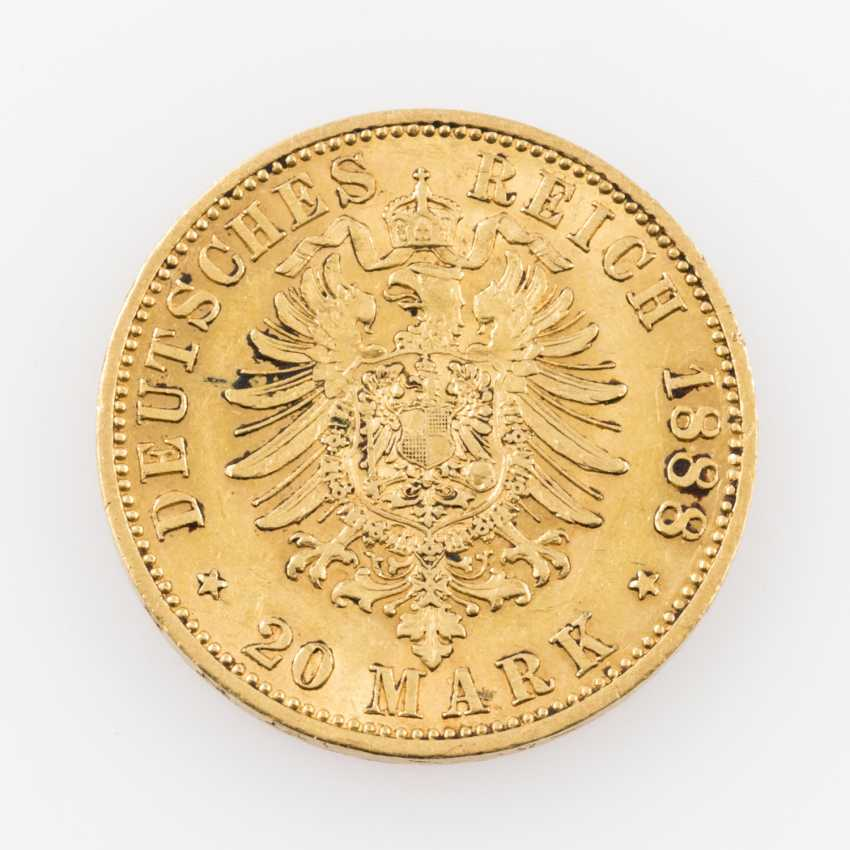 Preussen/GOLD, 20 Mark 1888 A, Friedrich Wilhelm III., - photo 2