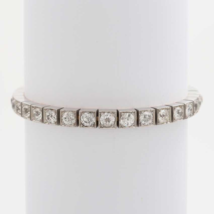 Bracelet with 34 old European cut diamonds; - photo 1