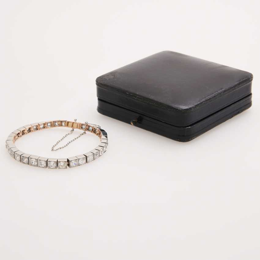 Bracelet with 34 old European cut diamonds; - photo 2