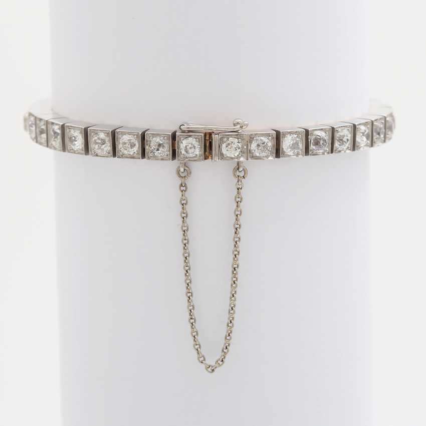 Bracelet with 34 old European cut diamonds; - photo 3