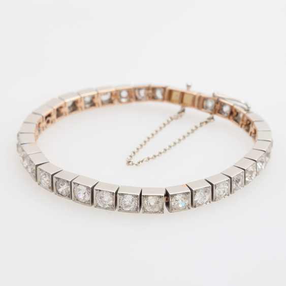 Bracelet with 34 old European cut diamonds; - photo 4