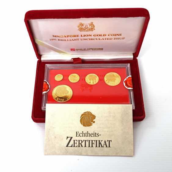 Singapore - Lion Gold Coin Set 1991, - photo 1