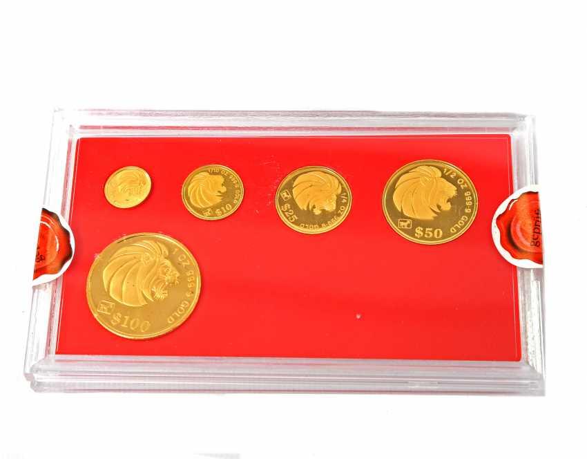 Singapore - Lion Gold Coin Set 1991, - photo 2