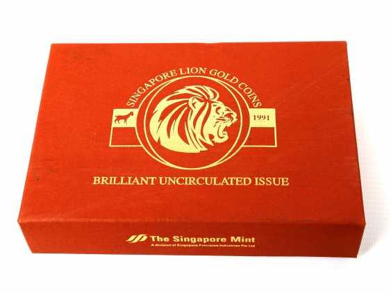Singapore - Lion Gold Coin Set 1991, - photo 4