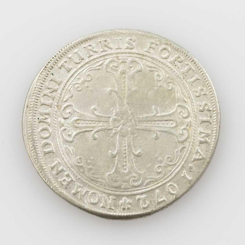 City of Frankfurt am Main - 60 Kreuzer (Gulden) 1672, Av: Adler, R.: cross with ornaments in angles, - photo 1
