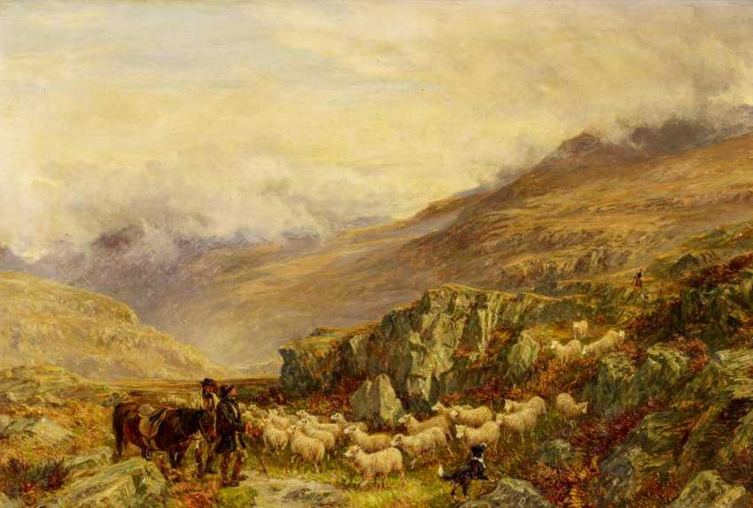 A shepherd in the Scottish highlands - photo 1