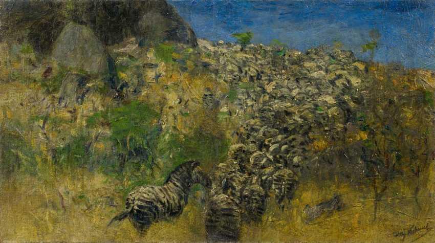 Fleeing Zebra Herd - photo 1