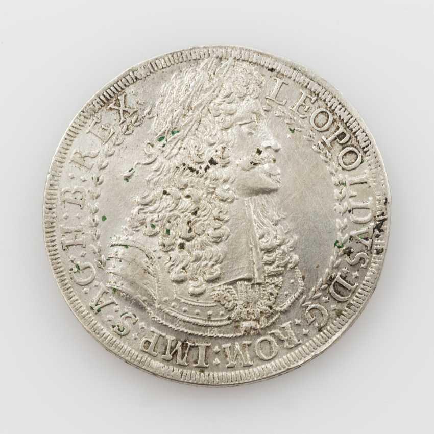 Roman-German Reich - Thaler, 1691/Hall, Leopold I. (1657-1705), Av: Belorbeertes breast image n. r, - photo 1
