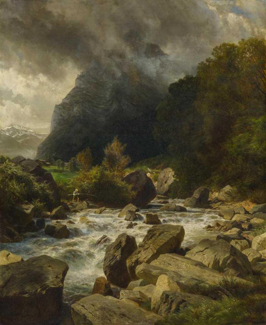 Mountain stream in Glarus in Switzerland - photo 1