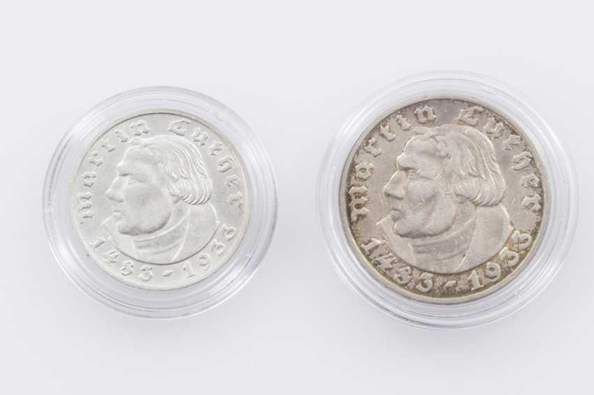 German Empire - 2 + 5 Reichsmark Martin Luther - photo 1