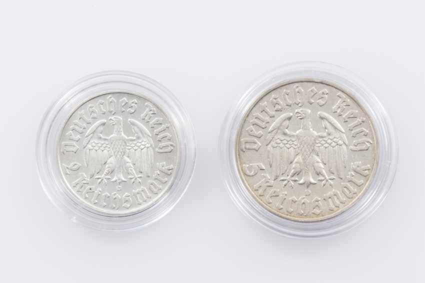 German Empire - 2 + 5 Reichsmark Martin Luther - photo 2