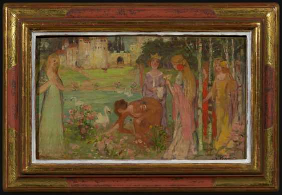 Ladies-in-waiting in the castle garden - photo 2