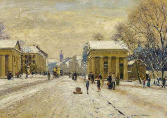 Winter day at the Ratinger gate in Düsseldorf - photo 1