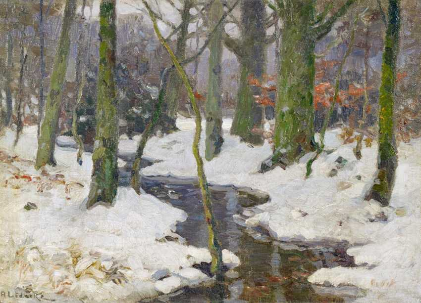 Stream in the winter forest - photo 1