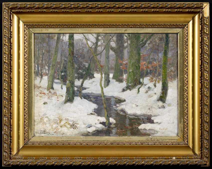 Stream in the winter forest - photo 2