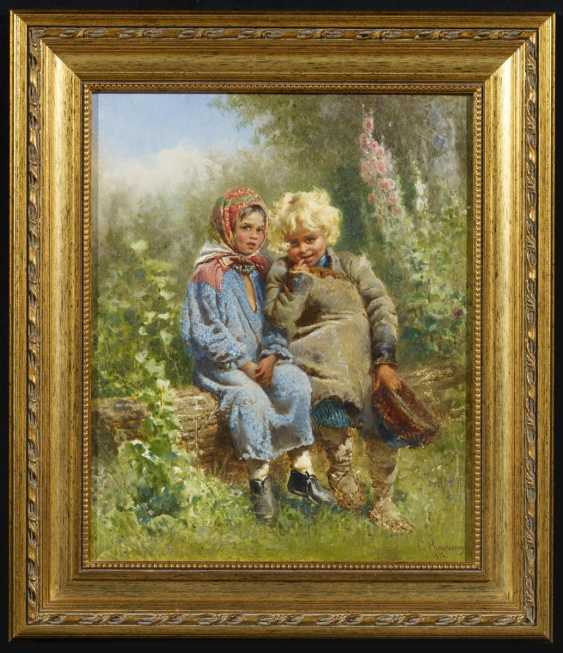 Two children in the garden - photo 2