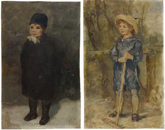 Two oil studies of the children of the painter - photo 1