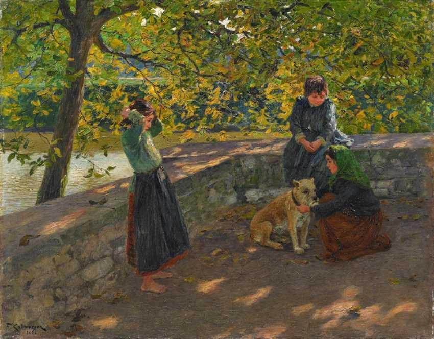 """Children with a dog (""""Gypsy children"""") - photo 1"""