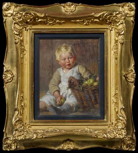 Little Boy with Apple basket - photo 2