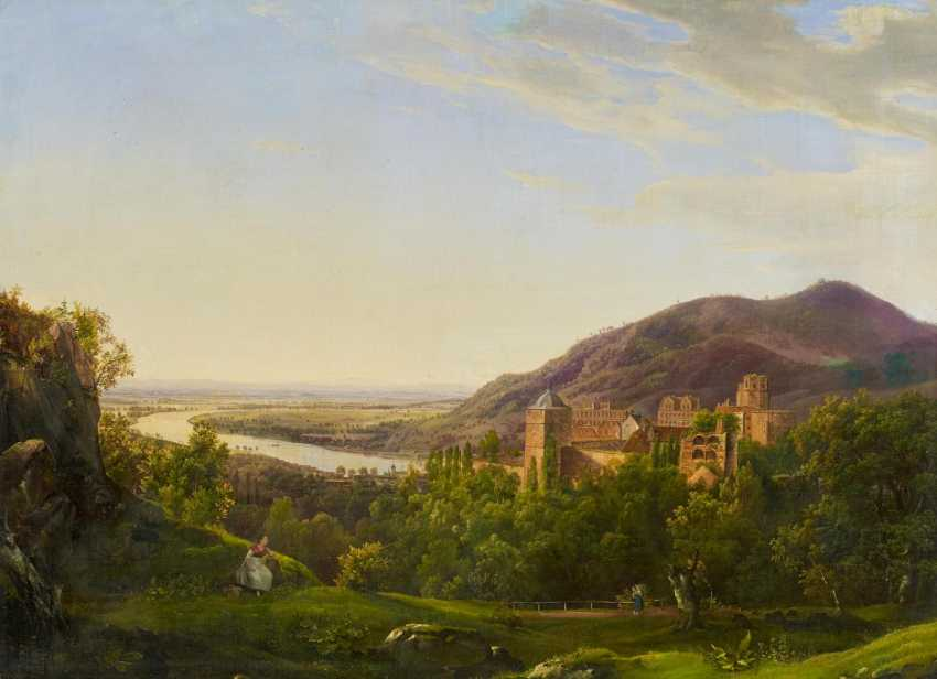 View over the Neckar valley and the Heidelberg castle - photo 1