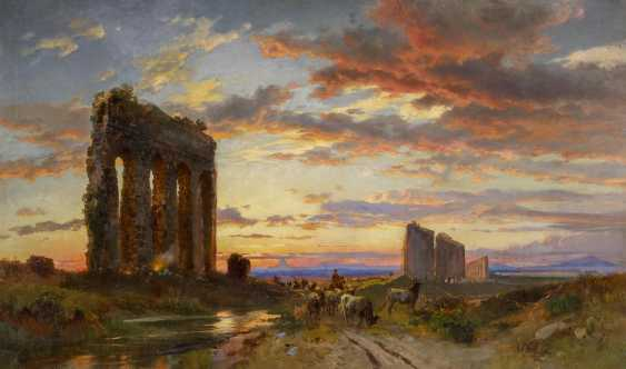 Evening at the Roman aqueducts in the Roman Campagna - photo 1